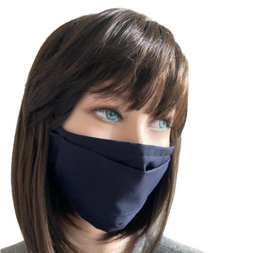 Masque Barrière Popeline Bleu Marine
