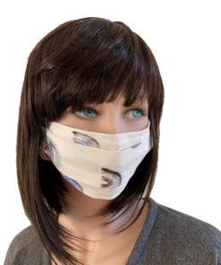 Masque barrière popeline Ginkgo Leaf Petrol