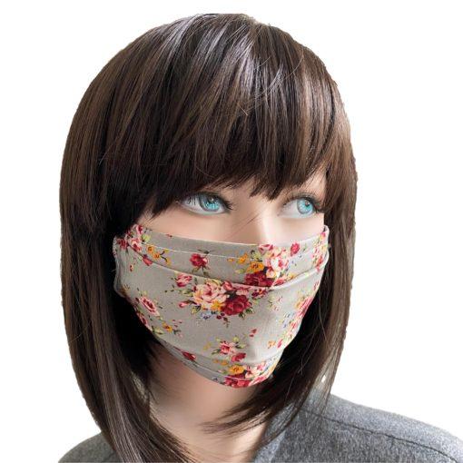 Masque Barrière Popeline Instant Romantique