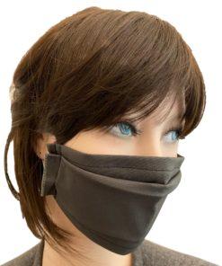 Masque Barrière Tissu Kaki